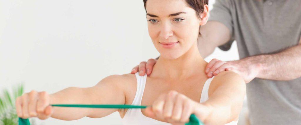 Woman having some Rehab Exercises